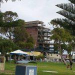 Scaffolding Around A Building Awaiting Renovation - Australian Building Maintenance Company